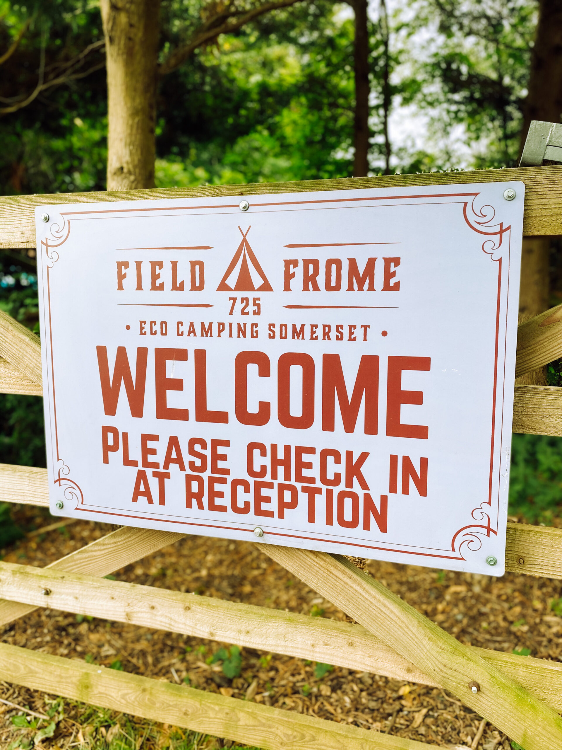 Reception Sign at Field 725