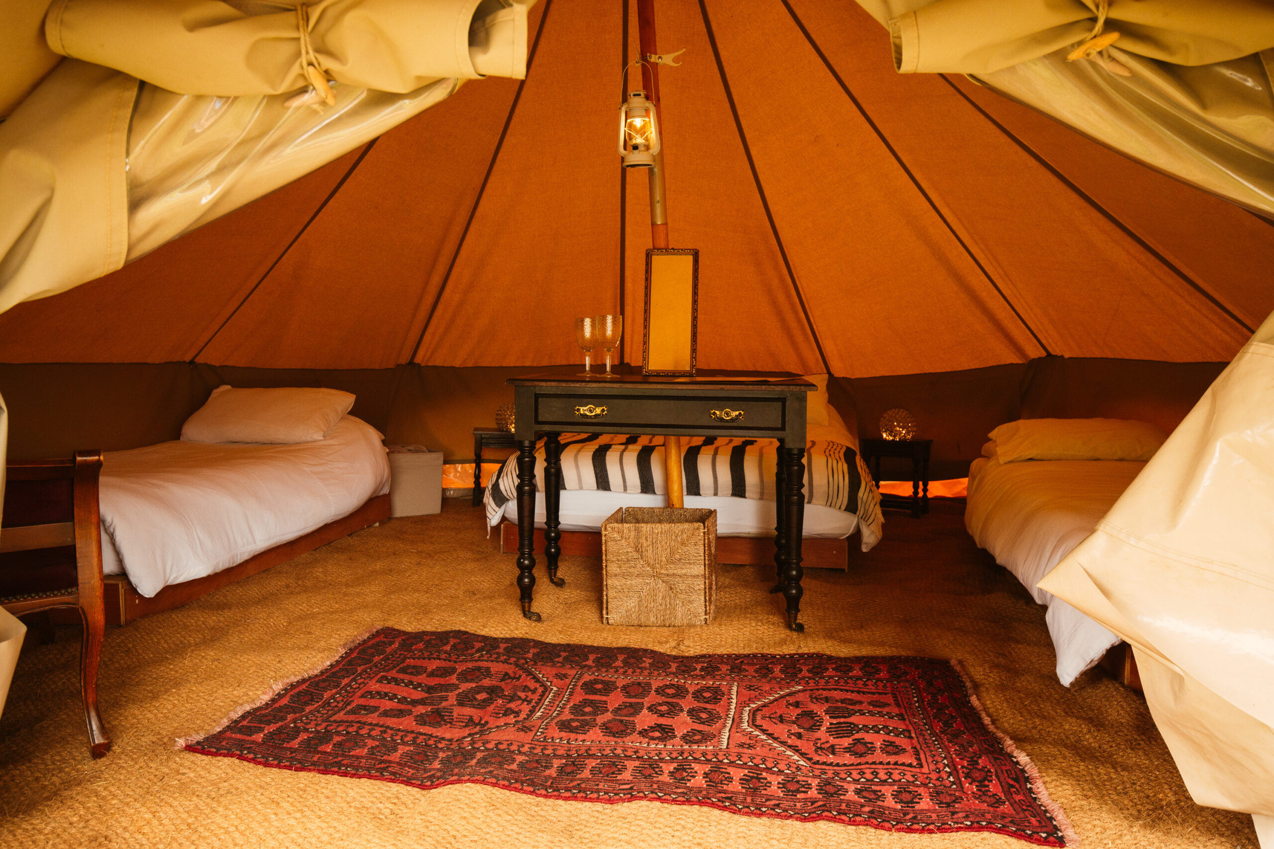 Safari Bell Tent Interior