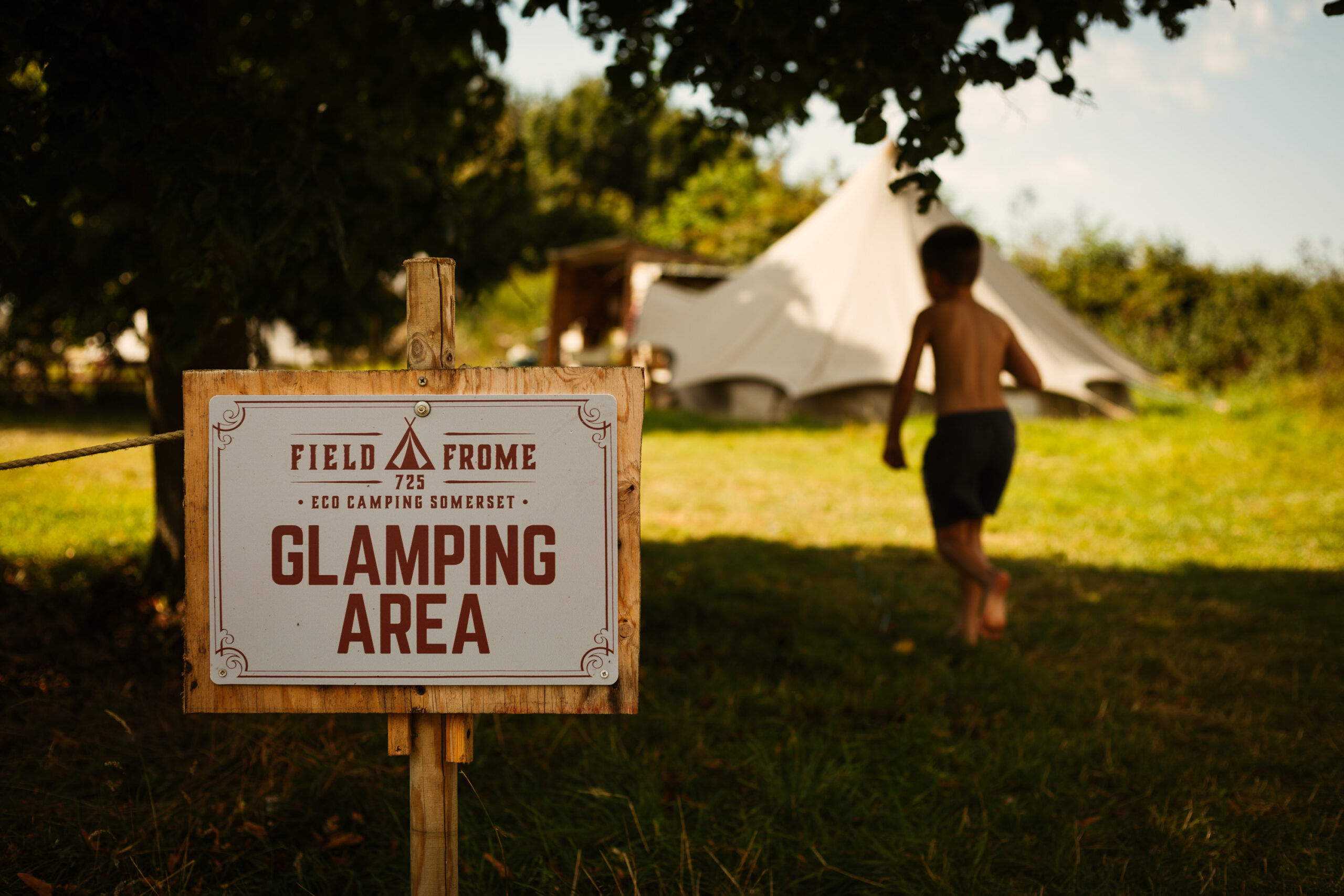 Entrance to our glamping area